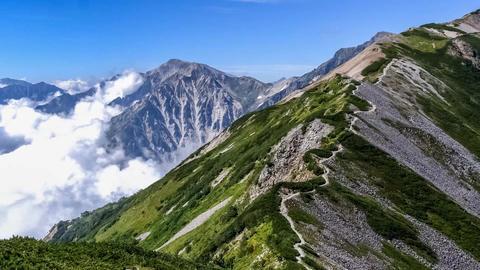 Timelapse-Japanese Northern Alps, Mt shirouma Climbing Footage
