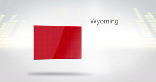 Motion Graphics 3D animation of the american state of Wyoming Animation