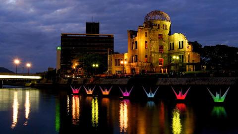 Timelapse-Hiroshima Peace Memorial Park-Orizuru Dance-60f Footage