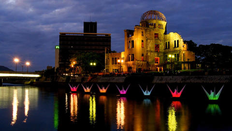 Timelapse-Hiroshima Peace Memorial Park-Orizuru Dance-60f ビデオ