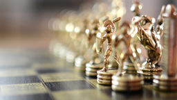 Chess - detail of row Footage