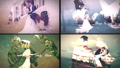 Magic Love Story-Double Exposure After Effects Template