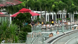 Singapore 047 Swimming Pool at the Rooftop of Marina Bay Sands Skypark Hotel Footage