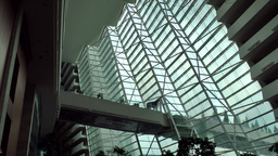 Singapore 050 modern architecture inside Marina Bay Sands luxury hotel Footage