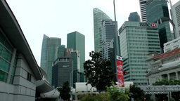 Singapore 054 business towers in downtown financial district Footage