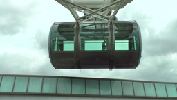 """Singapore 009 Cabin of Ferris Wheel """"The Singapore Flyer"""" is going up Footage"""