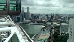 Singapore 019 ferris wheel cabin at the peak Footage