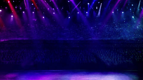 concert stage color light random, Stock Animation