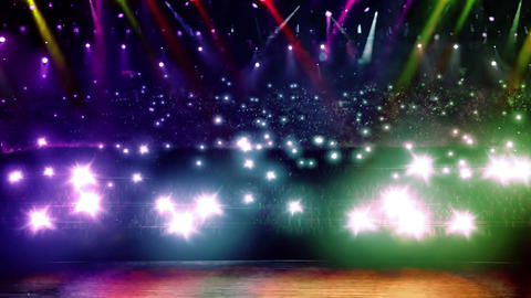 concert stage spotlight with flash Animation