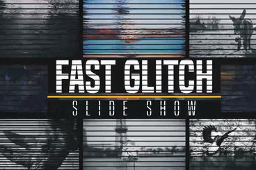 Fast Glitch Slideshow After Effects Project