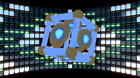 Led Back Stage 4K Vj Loop 01 Animation