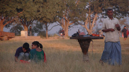 A Snack Seller In The Evening,Tansen,Nepal stock footage