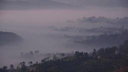 Misty Landscape,Dhulikehl,Nepal stock footage