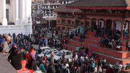 Crowds on Durbar square,Kathmandu,Nepal Footage
