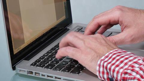 Laptop Keyboard Working Hard Footage