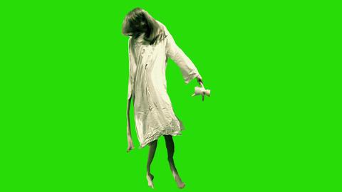 Green Screen Deformed Girl stock footage