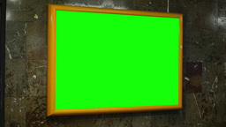 notice board (panel) - green screen - in subway Footage