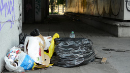 rubbish on the street Footage