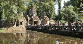 Cambodia Angkor Wat temple ancient ruin buildings Preah Khan 画像
