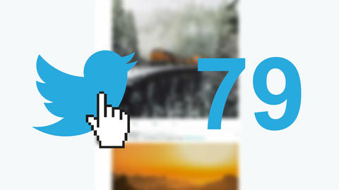 "Twitter social media message button ""tweets"" retweets counter hand cursor 이미지"