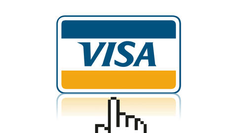 Visa logo online shopping payment e-commerce credit card 圖片