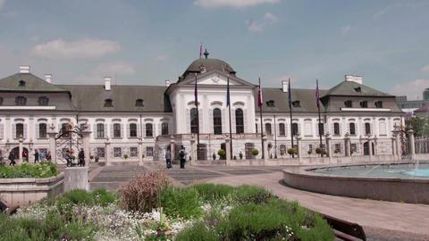 Grassalkovich Palace in Bratislava, Slovakia Live Action