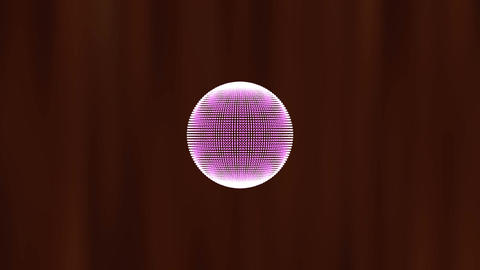 3D orb shape of particles morph, move and rotate. Science motion graphics with d Animation