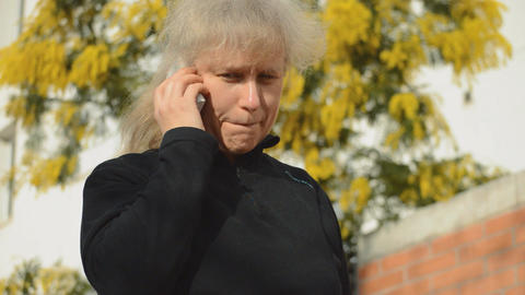 Woman Calling On The Phone Footage