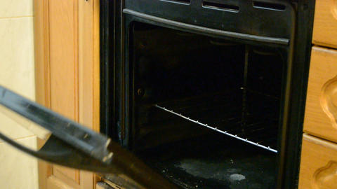 Vegan Cake Gets Inside the Oven Footage