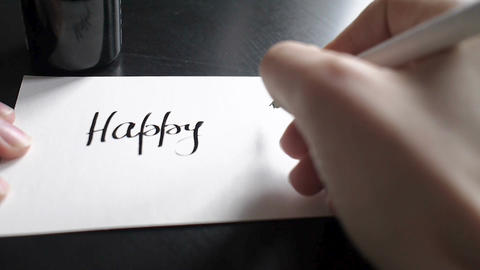 Happy Mother's day calligraphy and lettering post card.... Stock Video Footage