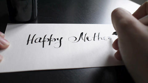 Happy Mother's day calligraphy and lettering post card.…, Live Action