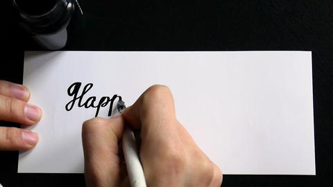 Happy Mother's day calligraphy and lettering post glossy... Stock Video Footage