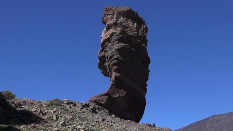 Roque Cinchado by Mount Teide Footage