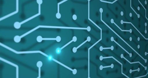 Loop animated circuit board with illumination Filmmaterial
