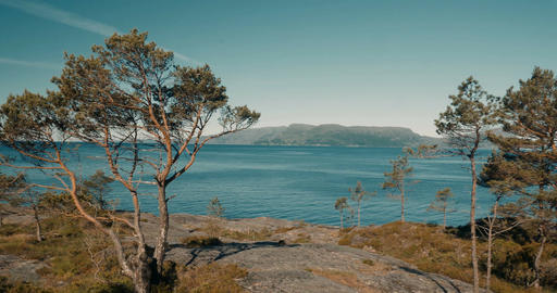 Epic Pan Along A Norwegian Fjord - Cinematic Style Footage