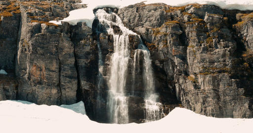 Flotvatnet Waterfall, Norway - Cinematic Style Image