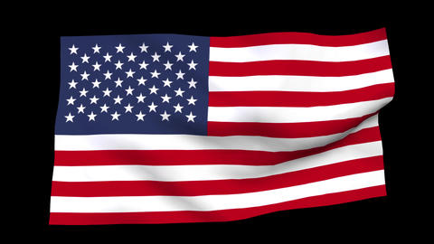 American flag CG動画素材
