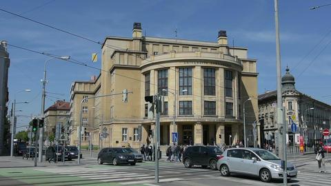 The university of Bratislava Stock Video Footage
