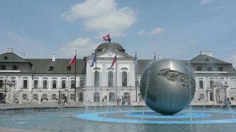 Grassalkovich Presidential Palace in Bratislava Live Action