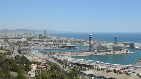 Barcelona Shore Stock Video Footage