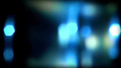 Real Light Leaks and Bokeh - Loop 04 - Blue - Slow Animation