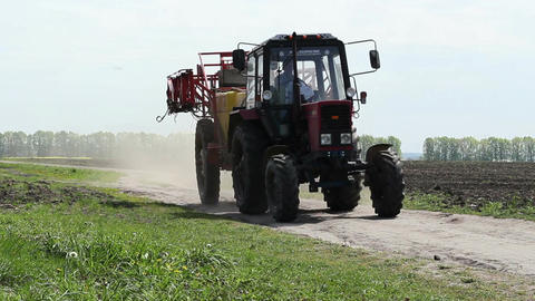 Tractor Working In Field 6 Footage