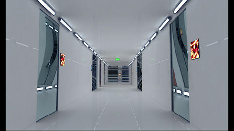 Hyper Modern Futuristic Data Center 3D