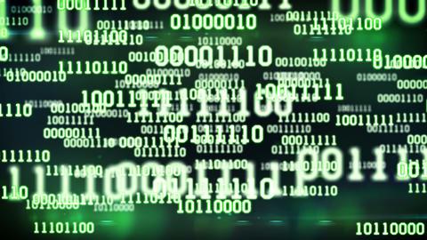 Abstract Binary Code stock footage