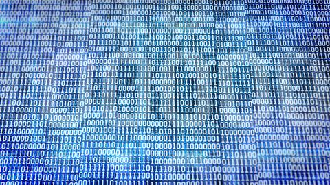 Abstract binary code Animation