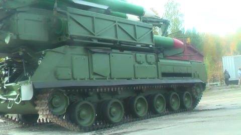 Buk-M1-2 Surface-to-air Missile Systems In Motion stock footage