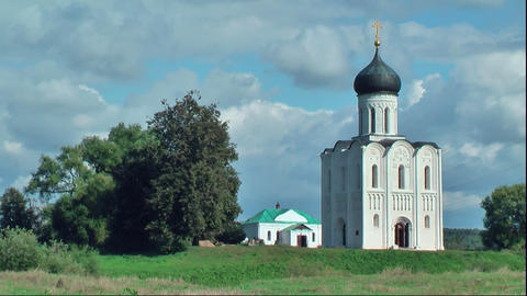 Church of Intercession on Nerl River. Bogolyubovo Footage