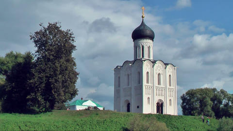 Church Of Intercession On River Nerl stock footage