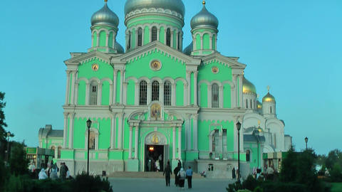 Holy Trinity Cathedral. Diveevo. Russia Footage