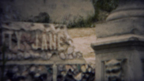 1953: Calamity Jane western legend memorial gravesite tomb Footage